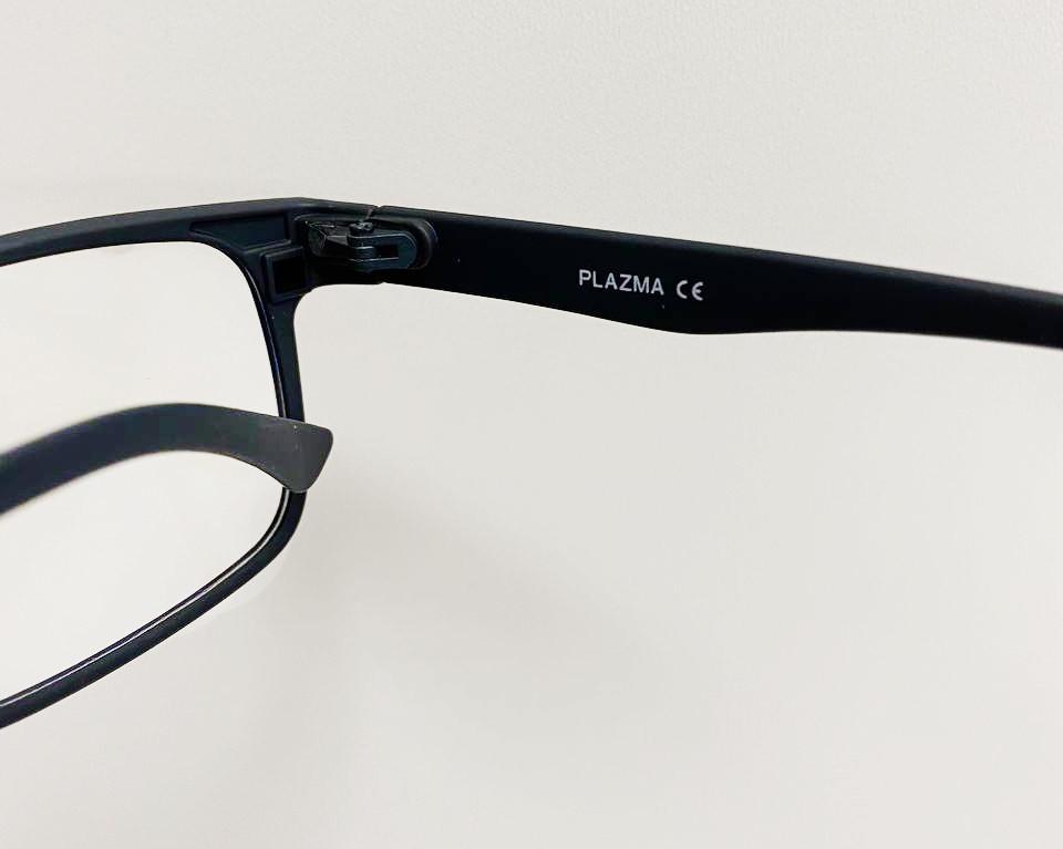Компьютерные очки хамелеоны с тоненькой душкой узкая оправа матовая Plazma темно-синие - фото 5