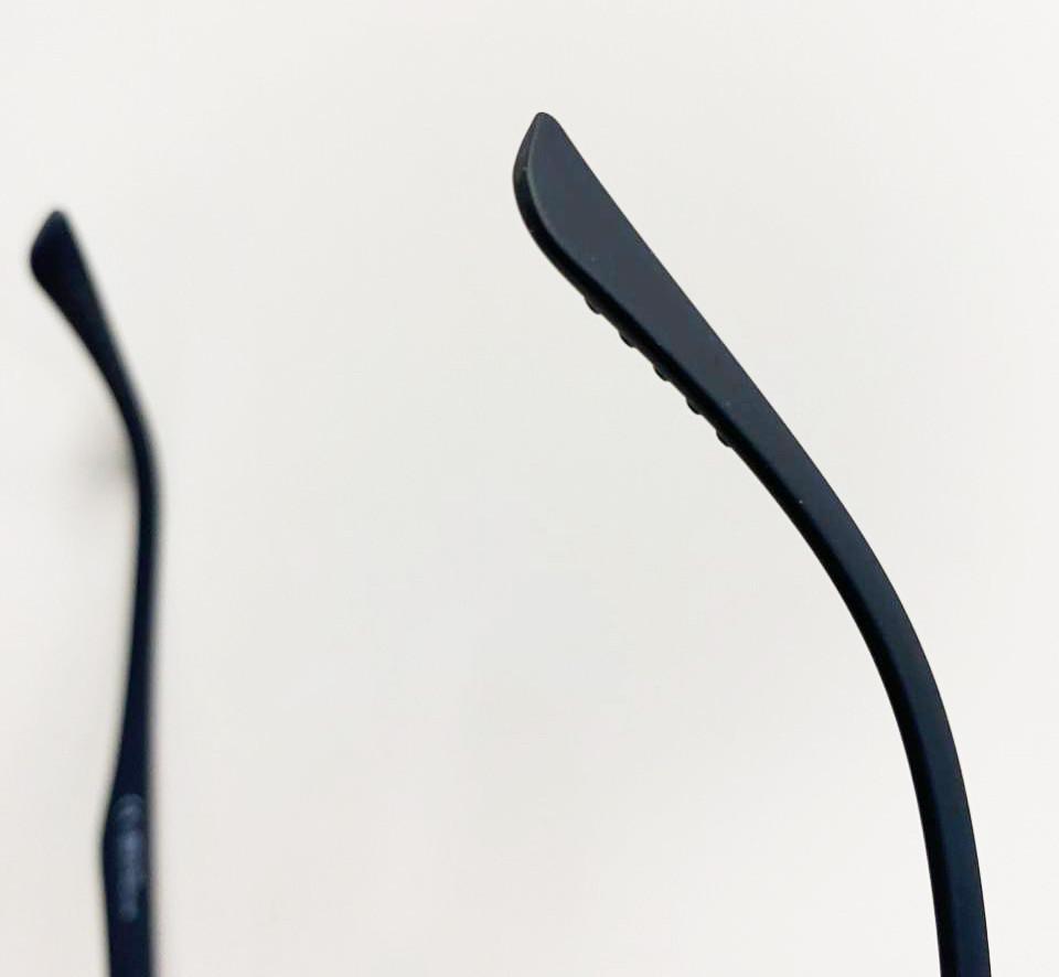 Компьютерные очки хамелеоны с тоненькой душкой узкая оправа матовая Plazma темно-синие - фото 6