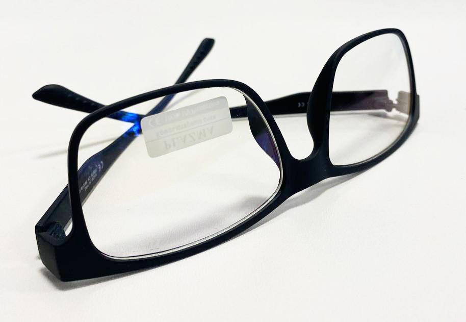 Компьютерные очки хамелеоны с тоненькой душкой узкая оправа матовая Plazma темно-синие - фото 3