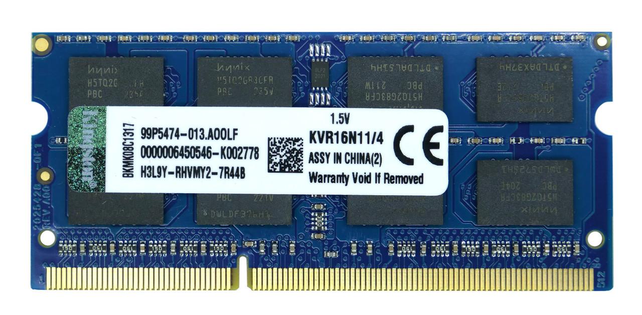 Оперативная память SODIMM DDR3 4GB Kingston KVR16S11/4