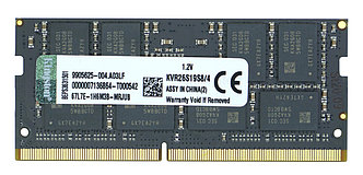 Оперативная память SODIMM DDR4 4GB Kingston KVR26S19S8/4