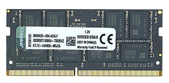 Оперативная память SODIMM DDR4 8GB Kingston KVR26S19S8/8
