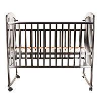 PITUSO Кровать детская NOLI МИШУТКА колесо-качалка с наклад. опуск.планка Венге, фото 1