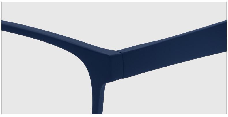 Компьютерные очки хамелеоны с тоненькой душкой узкая оправа матовая Plazma темно-синие - фото 8