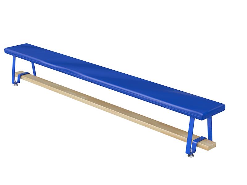 Скамья гимнастическая мягкая, ножки металлические 2,5м