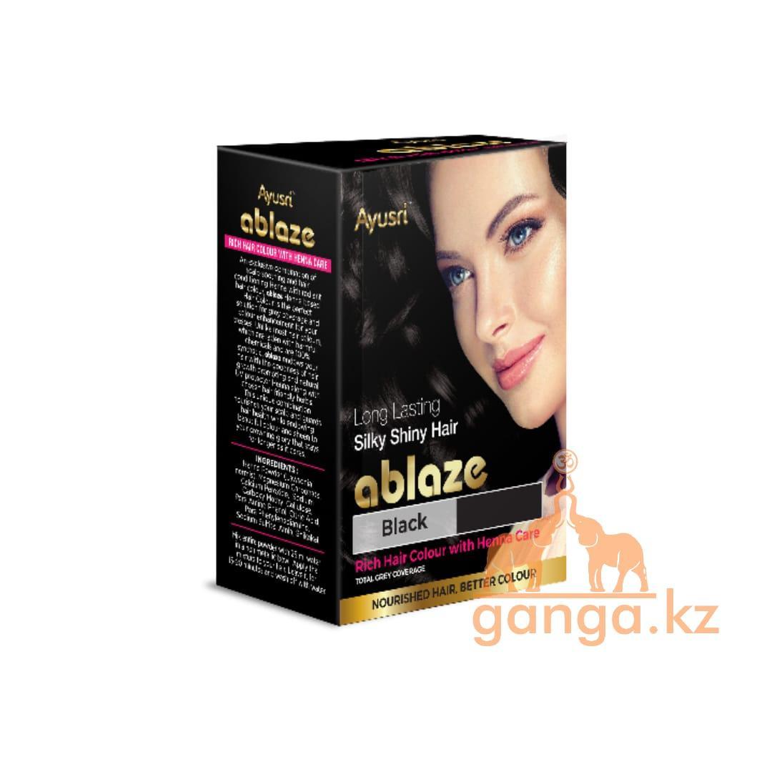 Черная хна для волос (Black henna AYUSRI), 6 пакетиков по 10 грамм