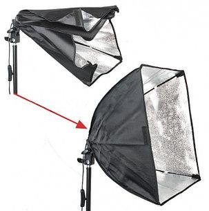 Софтбокс 50Х50 см студийный с патроном на 1 лампу, фото 2