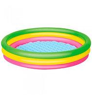 """Надувной бассейн детский """"Лето"""" 102х25 см, 62 л, надувное дно, возраст 2+ Код 51104"""