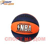 Баскетбольный мяч Spalding NBA (сине-оранжевый)