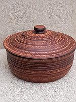 Кастрюля 4 литра,красная глина