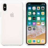 Чехол на телефон Белый Silicone Case iPhone Xs/X