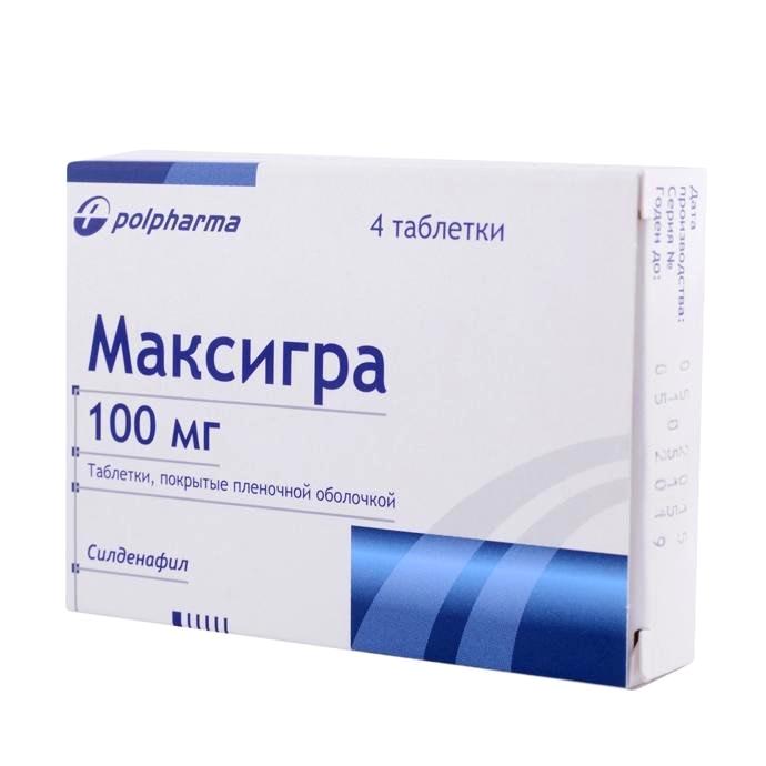 Максигра 100 мг №4 табл.