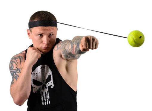Тренажер на голову для бокса Fight ball на резинке - фото 2