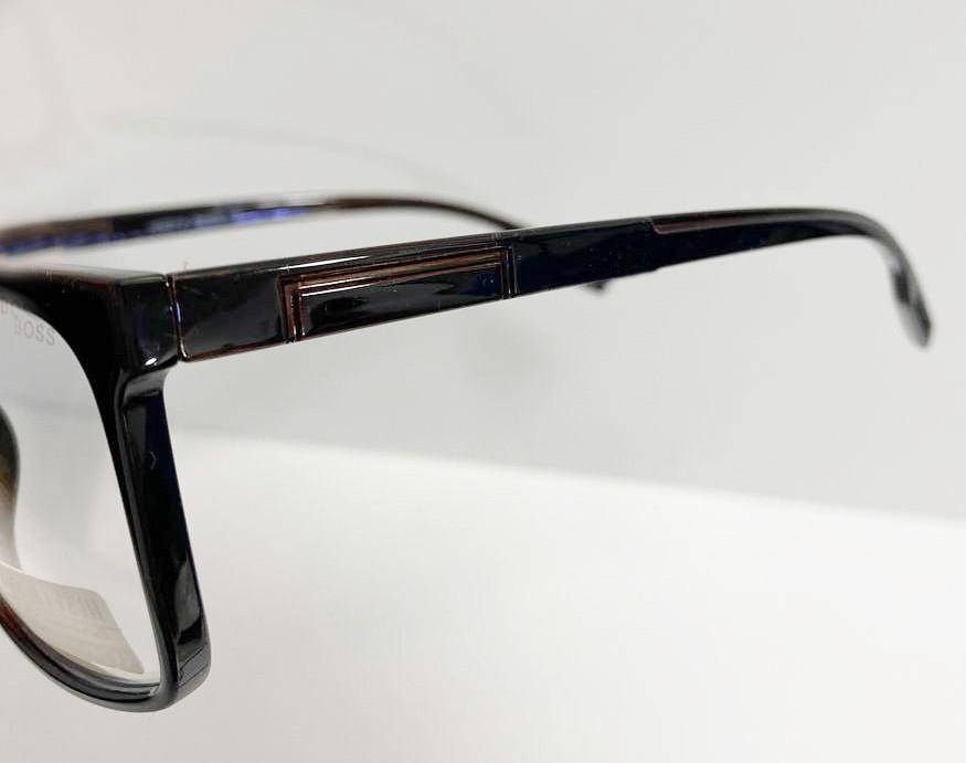 Компьютерные очки хамелеоны с тоненькой душкой узкая оправа глянцевая Husya boss черные - фото 4