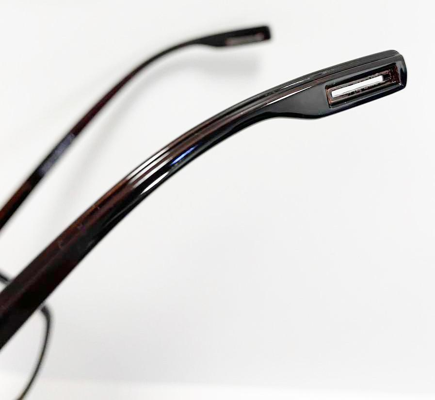 Компьютерные очки хамелеоны с тоненькой душкой узкая оправа глянцевая Husya boss черные - фото 5