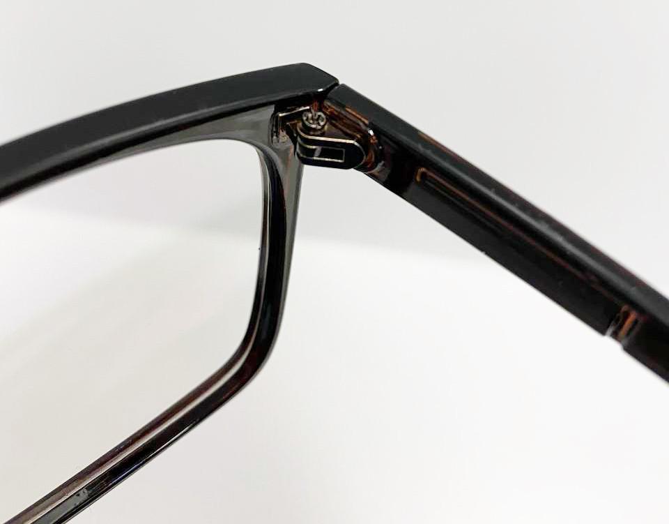 Компьютерные очки хамелеоны с тоненькой душкой узкая оправа глянцевая Husya boss черные - фото 6