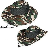 Шляпа для рыбалки охоты и походов трансформирующаяся с ветрозащитной веревкой камуфляж