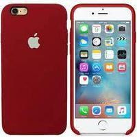 Чехол на телефон Бордовый Silicone Case iPhone 6/6S