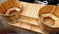 Кедровые купели с гидро, аэромассажем, диаметр каждой купели 150 см., фото 1