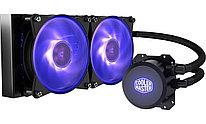 Водяное охлаждение для CPU CoolerMaster ML240L V2 RGB 240 x 27mm Radiator, 2 x 120mm RGB Fans, 650- 2000 RPM,
