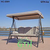 Садовые качели HC-2001. Трехместные, нагрузка 250 кг. Доставка и сборка.