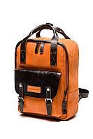 Женский осенний кожаный оранжевый рюкзак Igermann 20С1009 КА3 без размерар.