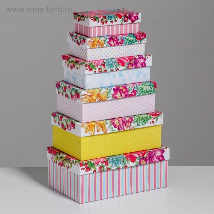 Набор подарочных коробок 10 в 1 «Цветы», 32.5 × 20 × 12.5 12 × 7 × 4 см - фото 2