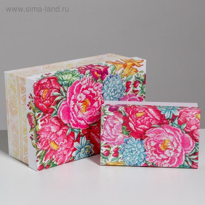 Набор подарочных коробок 10 в 1 «Цветы», 32.5 × 20 × 12.5 12 × 7 × 4 см - фото 3