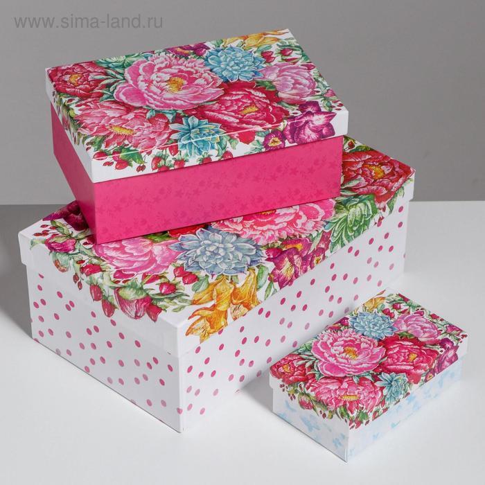 Набор подарочных коробок 10 в 1 «Цветы», 32.5 × 20 × 12.5 12 × 7 × 4 см - фото 4