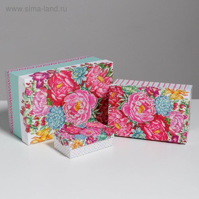 Набор подарочных коробок 10 в 1 «Цветы», 32.5 × 20 × 12.5 12 × 7 × 4 см - фото 5