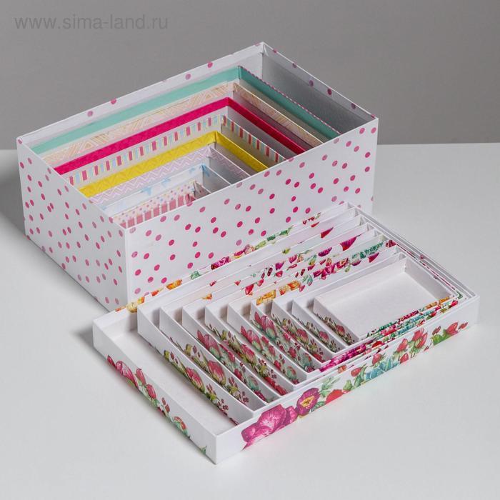 Набор подарочных коробок 10 в 1 «Цветы», 32.5 × 20 × 12.5 12 × 7 × 4 см - фото 7