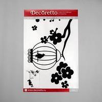 Наклейки Decoretto 'Девочка и птичка' 50х70 см (набор 2 листа)