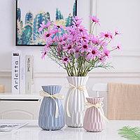 Однотонная керамическая цветочная ваза