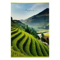 Тетрадь А4, 48 листов в клетку 'Пейзаж', обложка мелованный картон, блок офсет