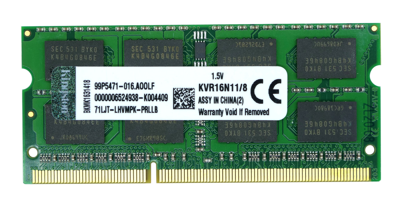 Оперативная память SODIMM DDR3 8GB Kingston KVR16N11/8
