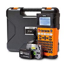 Принтер маркиратор Brother PT-E300VP (6,9,12,18 mm,печать на термоусадке) Li-ion аккум,кейс,антист.браслет