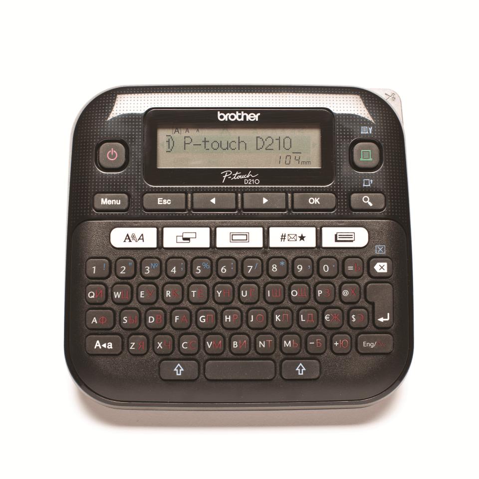 Принтер маркиратор Brother серия P-Touch  PT-D210 (печать на 6, 9,12мм лентах)
