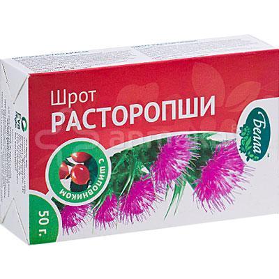 Шрот Расторопши с шиповником 50,0 Белла