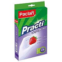 Перчатки виниловые Paclan Practi L, 10 шт