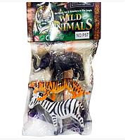 Набор дикие животные в пакете