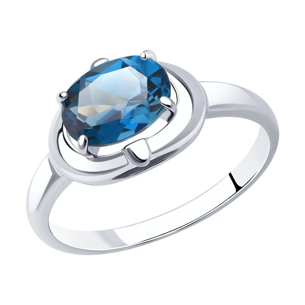 Кольцо из серебра с натуральным топазом Лондон