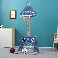 PITUSO Стойка баскетбольная МАРСИК (с кольцебросом, футб.воротами) BLUE/Синий (56*46*153h)
