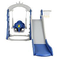 PITUSO Горка-Комплекс ЗАМОК (горка, качели) (звук) 185*146*122h Синий/ серый, фото 1