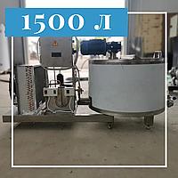 Танк охлаждения молока вертикального типа открытый 1500 литров