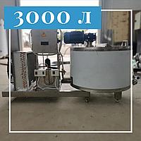 Открытый танк охладитель молока вертикальный 3000 литров