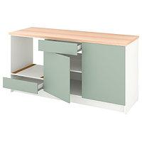 Шкаф напольный КНОКСХУЛЬТ серо-зеленый 180 см ИКЕА, IKEA