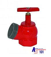 Кран пожарный КПЧ-50 угловой- чугунный (муфта-цапка)125°