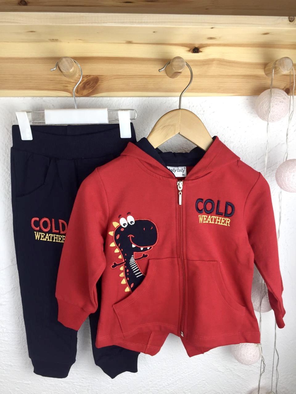 №16069 Костюм для мальч hoity-toity кр с дино, cold weather 86-110 см 0302