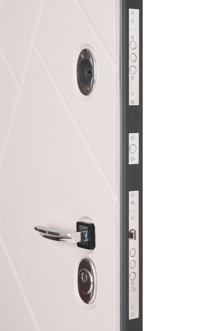 Дверь входная металлическая Flat Stout 17 Муар корич софт смоки/белая - фото 5
