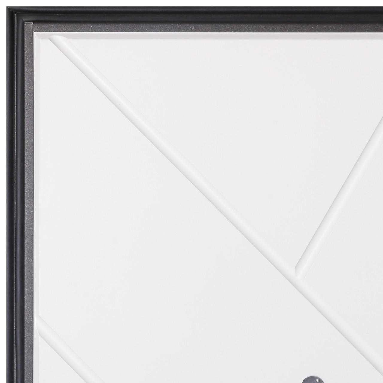 Дверь входная металлическая Flat Stout 17 Муар корич софт смоки/белая - фото 7